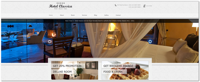 Hotel Classica WordPress Theme